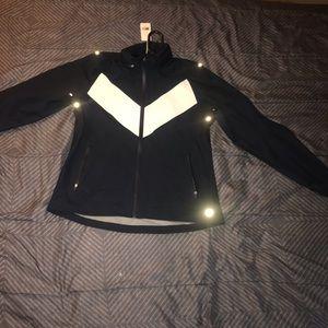 Tory Burch Reflective Rain Jacket W Hidden Hood
